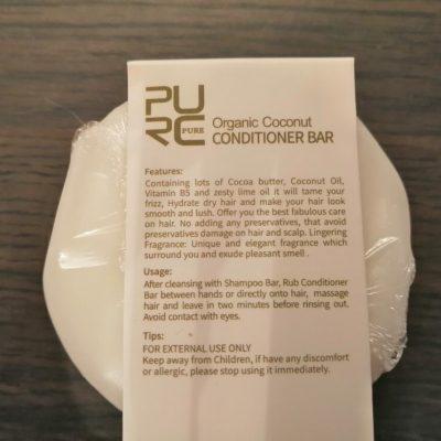 purcorganics - Coconut Conditioner bar 2