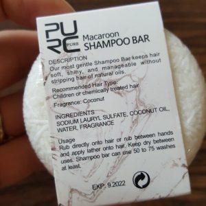 purcorganics - macaroon shampo bar 3